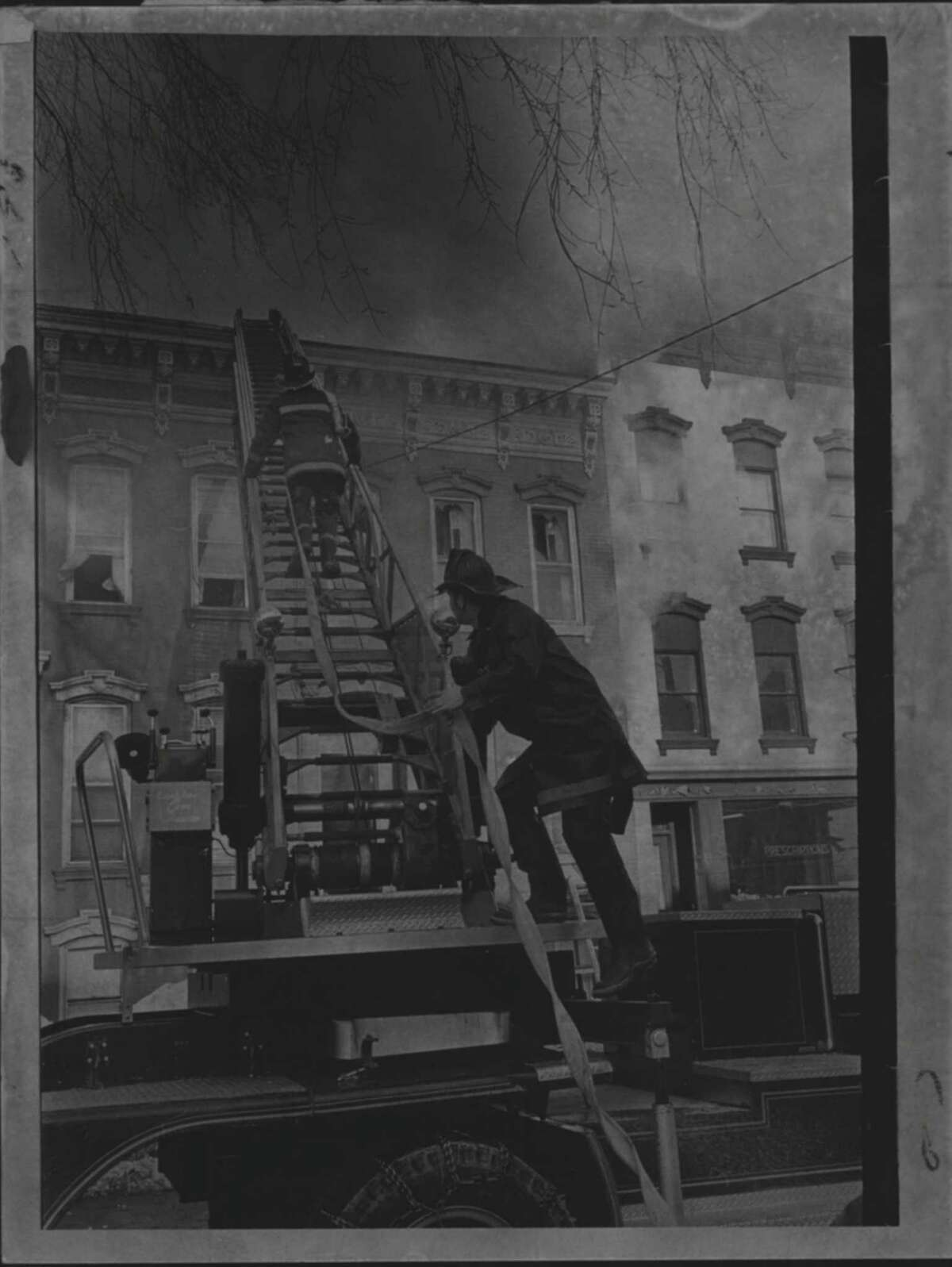 Albany, New York - fire - Clinton Avenue. 1970 (Times Union Archive)