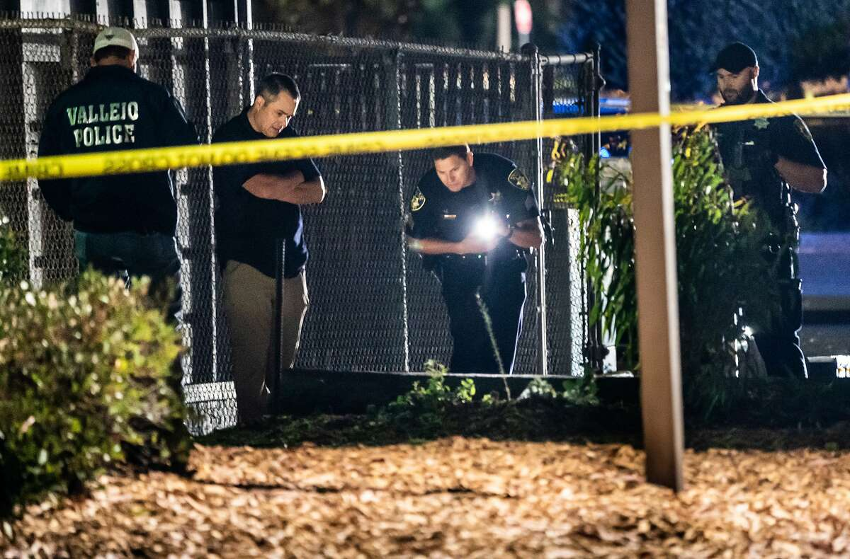 Vallejo Police Officers at the scene of a possible homicide at the Marina which may become the city's 14th homicide outpacing all of last year of twelve on Thursday, July 16, 2020 in Vallejo, Calif.