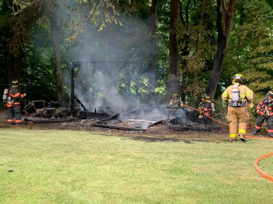 Around 2:45 p.m. Wednesday, July 15, 2020, the Haddam Volunteer Fire Company and Middletown South Fire District responded to a report of a structure fire on Filley Road in Haddam, Conn. Photo: Contributed Photo / Middletown South Fire District