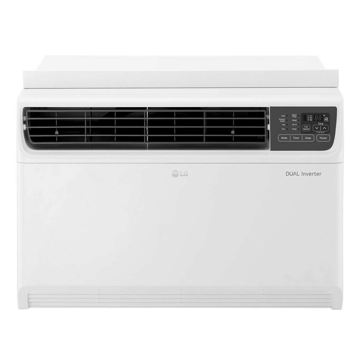 1) LG LW1817IVSM Dual Inverter Smart Window Air Conditioner: $599.99 Shop Now If you're looking for a window install, this smart air conditioner by LG is your best bet. It has an elegant design and superb cooling performance, and the model operates more quietly than any competitor, courtesy of LG's proprietary Dual Inverter tech. It consists of a uniquely designed motor and compressor, which work together in perfect (and quiet) harmony. The device is compatible with voice commands from both Amazon Alexa and Google Assistant. You can also control it via LG's SmartThinQ mobile app, which allows you to control the air conditioner's settings while also keeping tabs on the exact temperature of the room it's operating in. This variant of the LG Dual Inverter smart window air conditioner has a maximum cooling capacity of 18,000 BTU - enough to effortlessly cool up to 1,000 square feet of living space.More: Our Favorite Smart Home Products