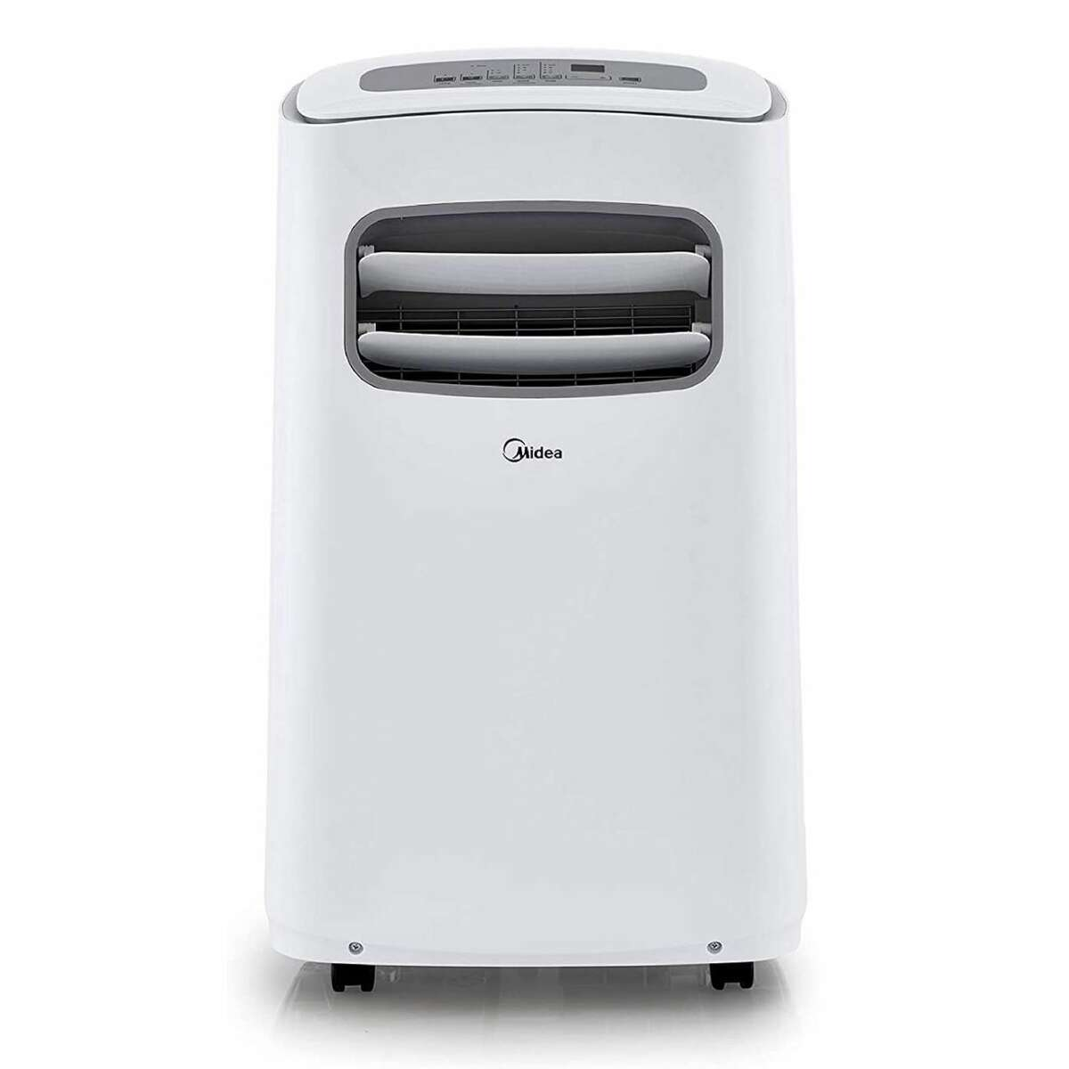 2) Midea Smartcool Portable Air Conditioner: $349.99 Shop Now Because there's nothing worse than going from an AC-cooled room to a stuffy and humid one, portability is key. So if you're looking for a unit that can follow you around an un-air-conditioned apartment, opt for this pick by Midea with the ability to cool and dehumidify the air in your space. The well-priced Smartcool AC will allow you to easily control it via Amazon Alexa and Google Assistant voice commands, a mobile app, or the bundled remote control. Its built-in control panel is also impressively intuitive. The air conditioner has a relatively quiet operation. Its built-in proximity sensor can also adjust the temperature based on your distance from the appliance. Midea has equipped the device with a washable filter for easy maintenance. The maximum cooling capacity of the air conditioner measures 10,000 BTU, making it suitable for a small room. Like all portable air conditioners, the Midea Smartcool AC is easy to install, so long as you have a proper window opening for its hot air exhaust. You can easily move the device around via built-in wheels.