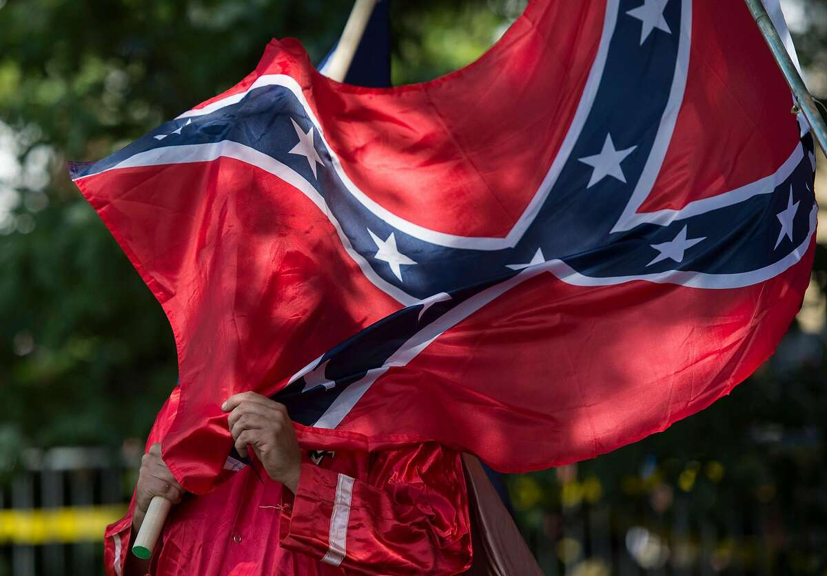 The sale or display of Confederate flags, swastikas and other