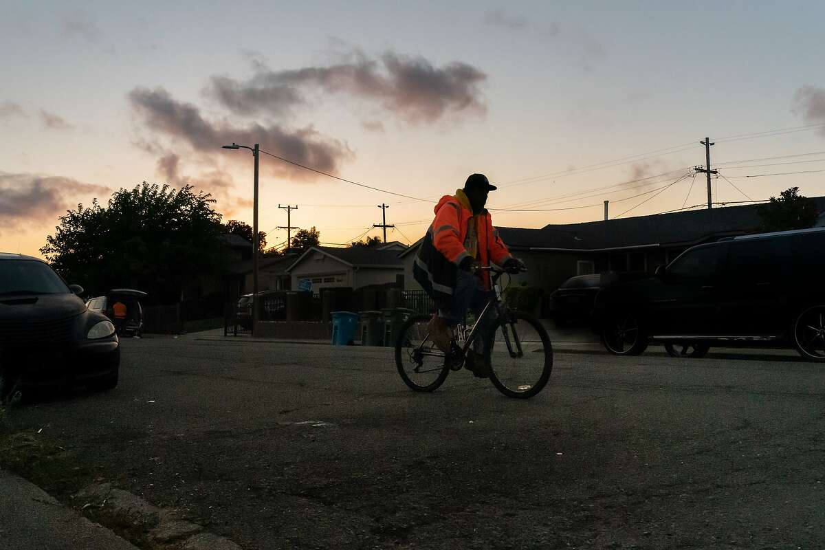 A bicyclist rides down 1000 block of Gateway Drive where one of the 2020 homicides occurred. Vallejo sustained its 14th homicide last night, outpacing all of last year of twelve on Thursday, July 16, 2020 in Vallejo, Calif.