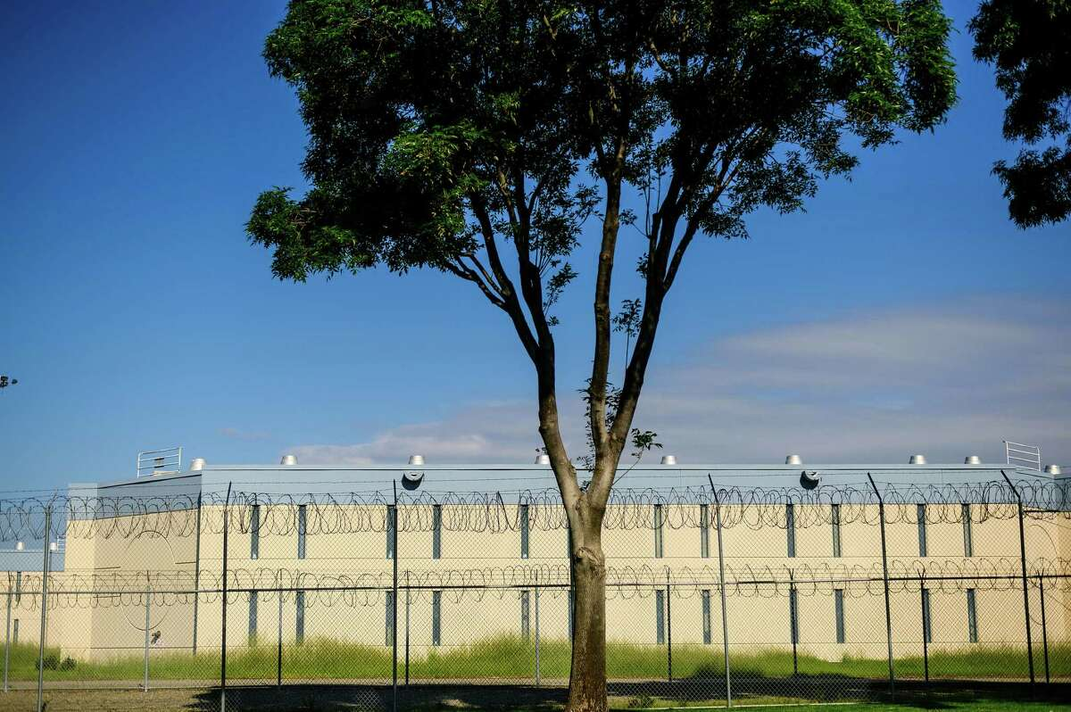 Santa Rita Jail is pictured on Friday, March 20, 2020, in Dublin, Calif. The county granted early release to several hundred prisoners this week to prevent the spread of coronavirus among inmates and staff,