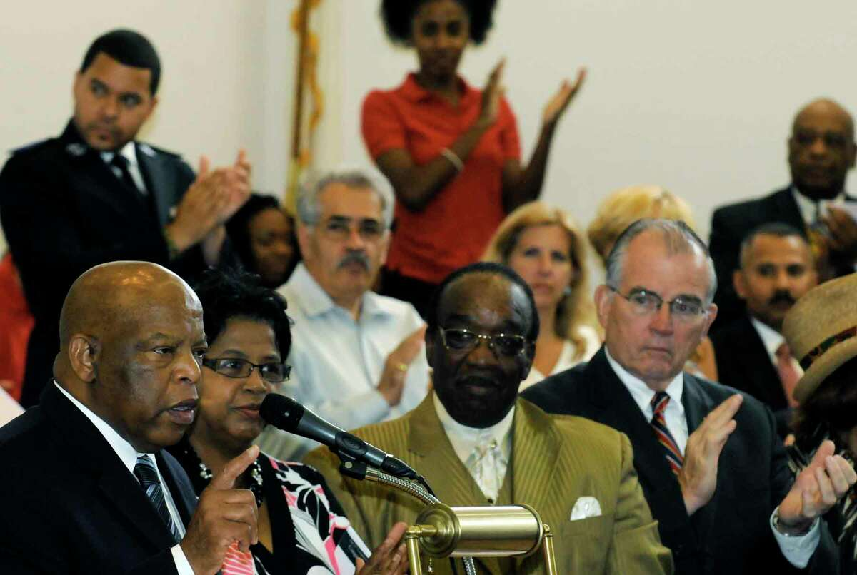 Georgia Congressman John Lewis speaks at the Mount Olive Southern Missionary in Albany on July 9, 2010. (Times Union archive)