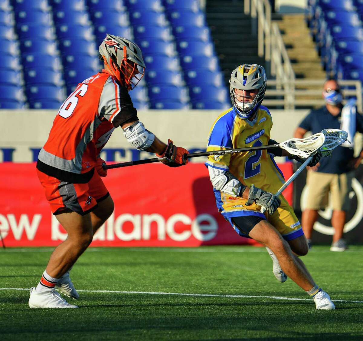 New Canaan's Michael Kraus made his Major League Lacrosse debut in the Connecticut Hammerheads loss to Denver