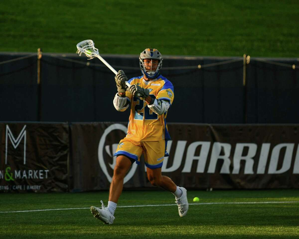 Will Sands in action in the Connecticut Hammerheads first game in Major League Lacrosse on Saturday night.