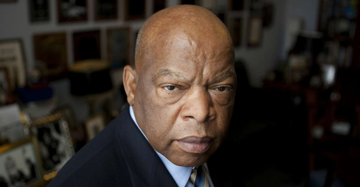 Congressman John Lewis (D-GA) is photographed in his offices in the Canon House office building on March 17, 2009 in Washington, D.C. The former Big Six leader of the civil rights movement was the architect and keynote speaker at the historic March on Washington in 1963. (Photo by Jeff Hutchens/Getty Images)
