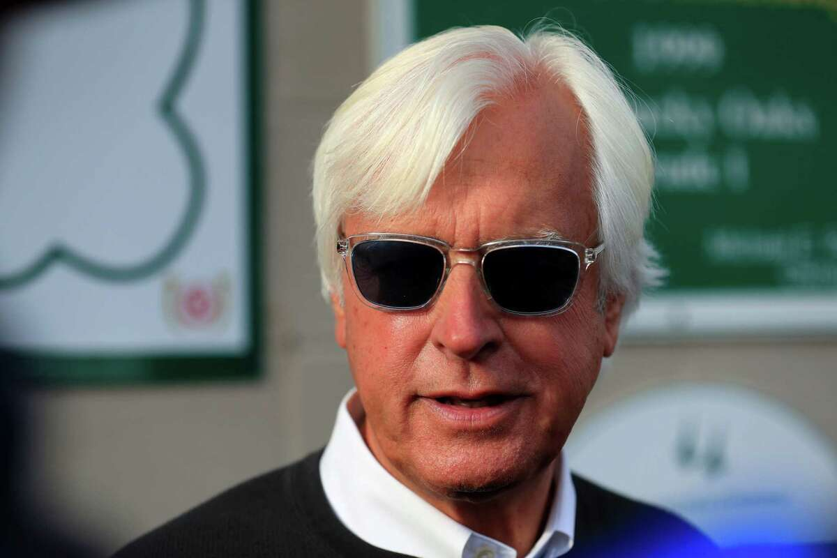 LOUISVILLE, KENTUCKY - MAY 02: Kentucky Derby Trainer Bob Baffert looks on during morning workouts in preparation for the 145th running of the Kentucky Derby at Churchill Downs on May 2, 2019 in Louisville, Kentucky. (Photo by Tom Pennington/Getty Images)