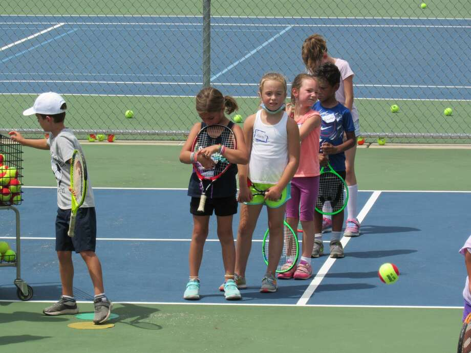 "More than two dozen Midlanders of all ages flocked to the Greater Midland Tennis Center to learn tennis basics at the first ""Taste of Tennis"" event of the summer on July 18, 2020. (Mitchell Kukulka/Mitchell.Kukulka@mdn.net) Photo: Mitchell Kukulka"