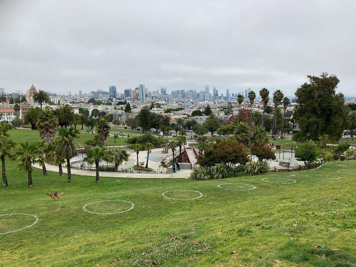 Although skateboarding is outlawed in Dolores Park, residents say the playground's concrete steps, handrails and curves attract skaters.