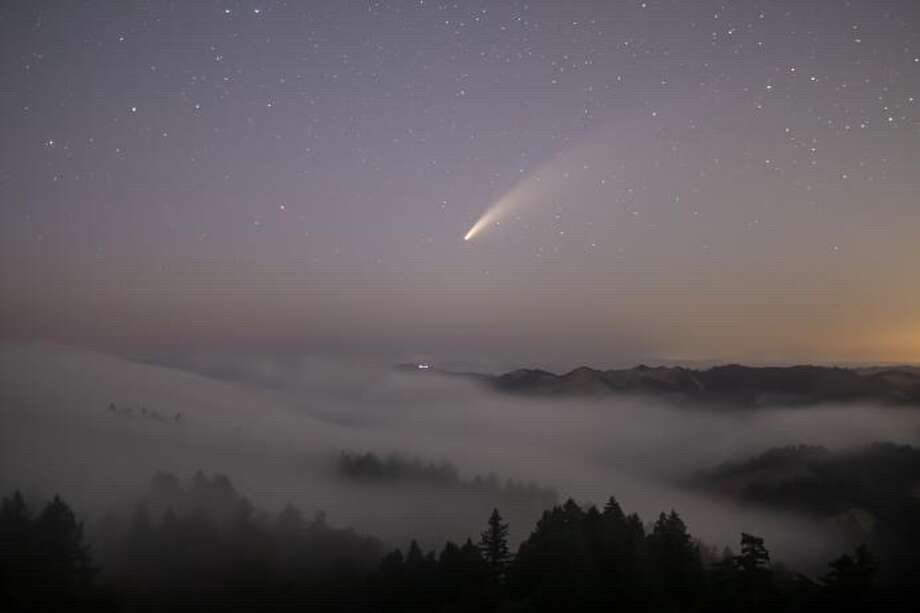 @glassmello captured this image of Comet Neowise above the fog on Mt. Tamalpais recently. Photo: Instagram / Glassmello