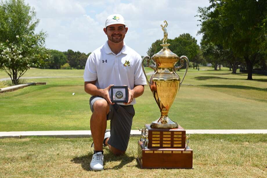 Midland College sophomore golfer JT Pittman poses after winning the 92nd West Texas Amateur at Bentwood Country Club in San Angelo on Sunday. Photo: Texas Golf Association