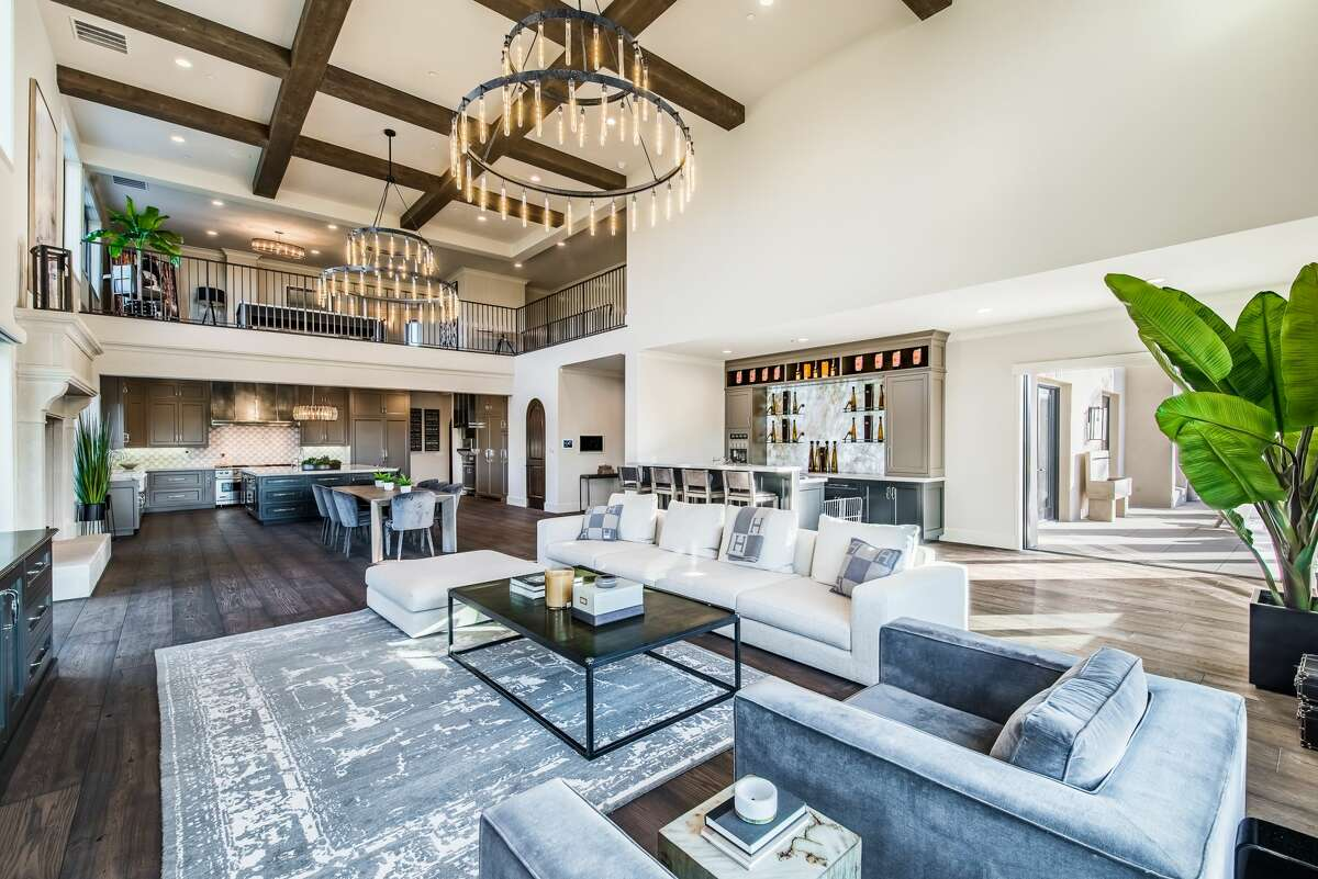 The mansion 15,000 square feet, with soaring ceilings and an open floor plan.