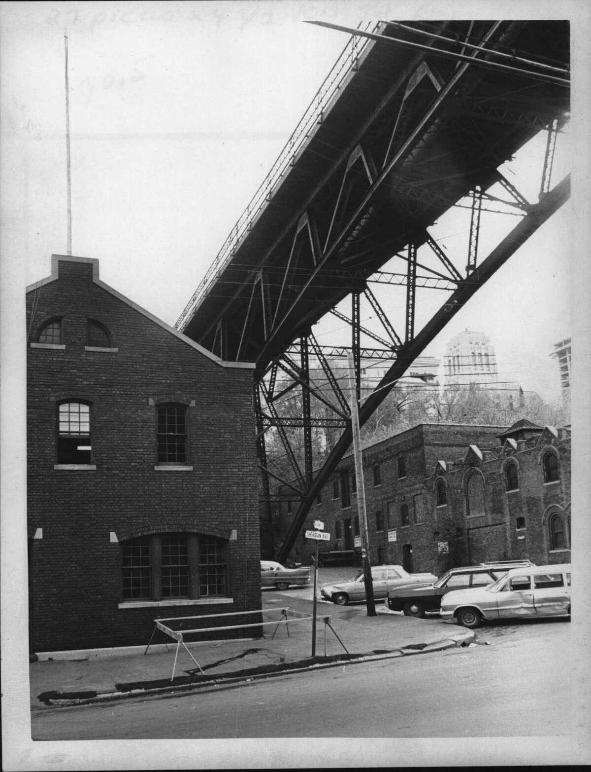 Albany, New York - Hawk Street Viaduct. 1970 (Times Union Archive)