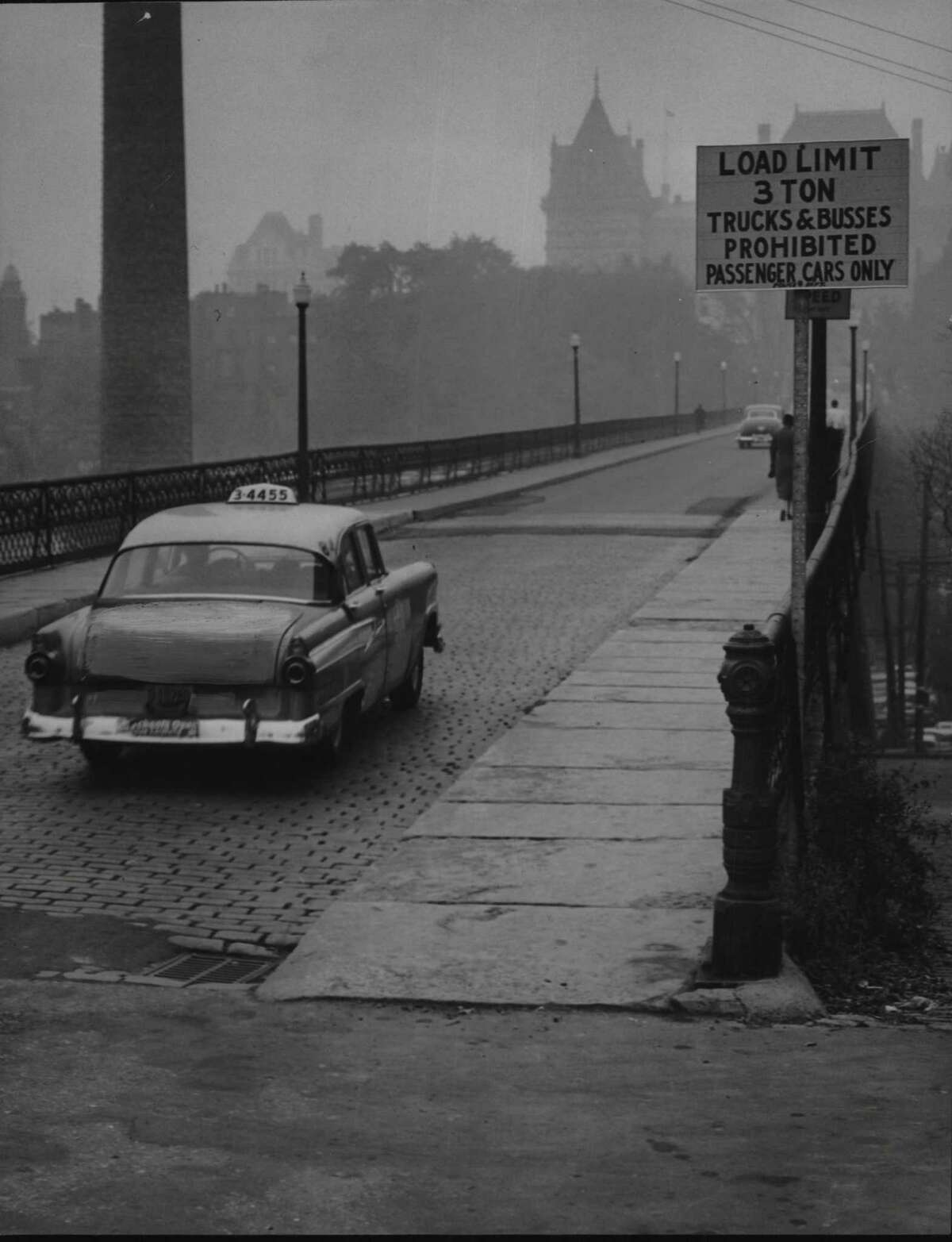 Albany, New York - Hawk Street Viaduct, look south from Clinton Avenue. October 16, 1958 (Times Union Archive)