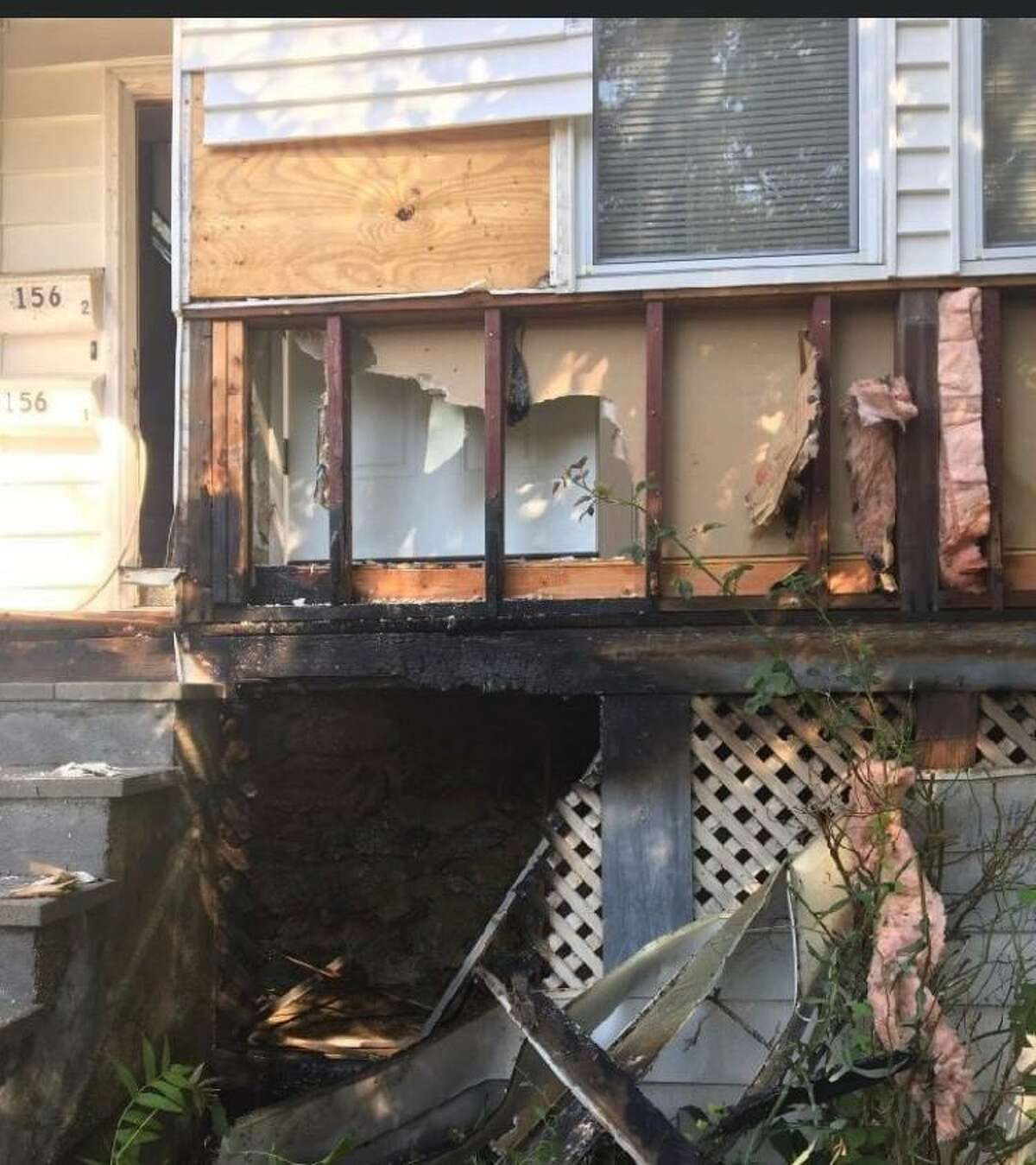Firefighters quickly put out a small blaze at a house on Hill Street on Sunday, July 19.