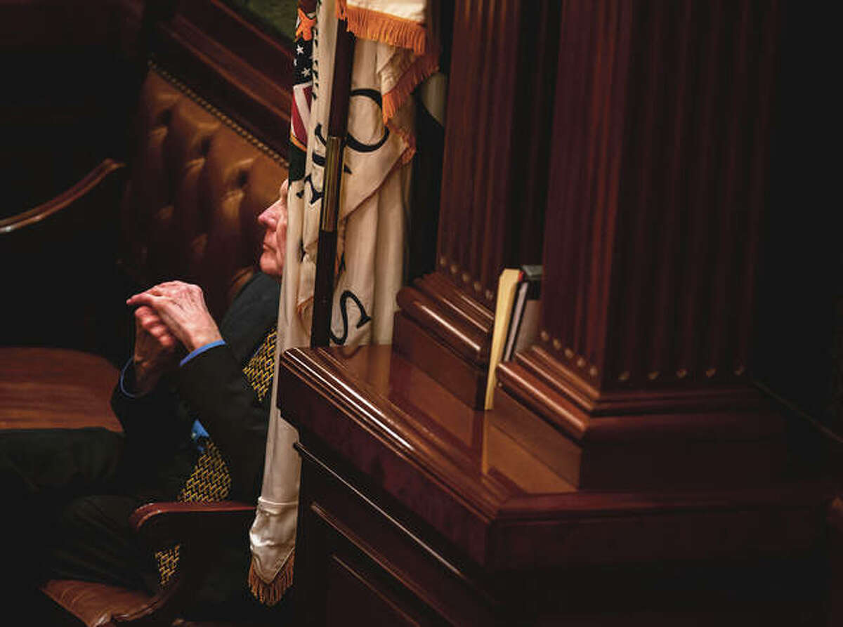 House Speaker Michael Madigan listens to debate on the House floor at the state Capitol. ComEd has agreed to pay $200 million to resolve a federal criminal investigation into a long-running bribery scheme that implicates Madigan, the U.S. Attorney's Office said Friday.