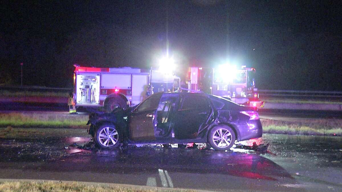 Two people were hospitalized after being shot while driving down a Northeast Side road Sunday, July 19, 2020.
