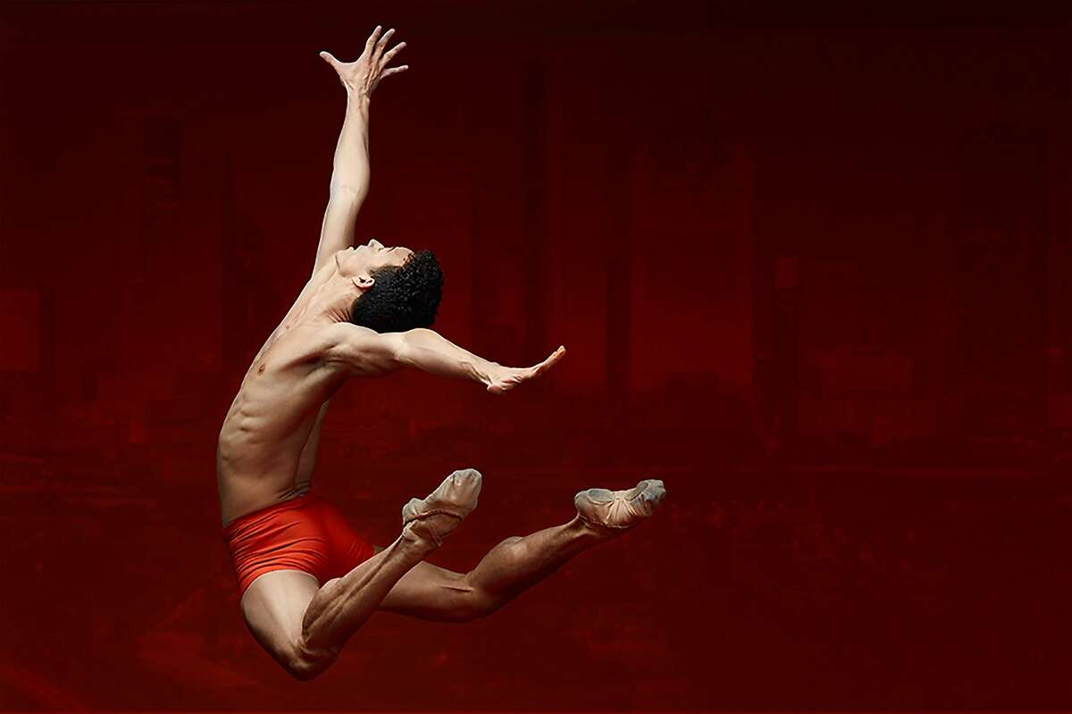 Houston Ballet demi-soloist Luzemberg Santana in a photograph that promotes a $5 million fund-raising compaign to restore the company's dancers and other artists.