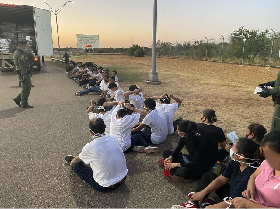 A truck driver stated that she was expected a payment of $6,500 for transporting these 35 immigrants who crossed the border illegally to San Antonio. Photo: Courtesy