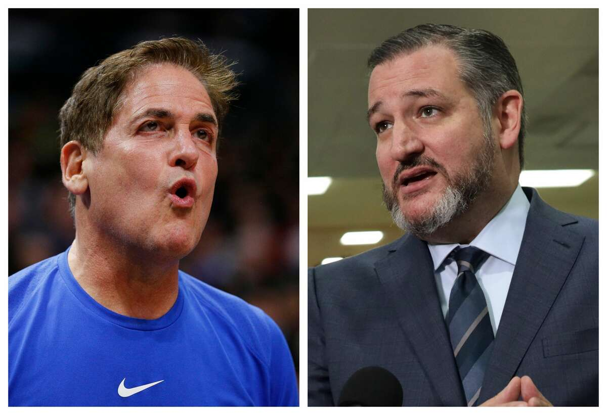 """Responding to a Dallas talk show host's comments about NBA players kneeling for the anthem, Mark Cuban called out """"anthem police"""" critics and traded remarks with U.S. Senator Ted Cruz on Sunday and Monday."""