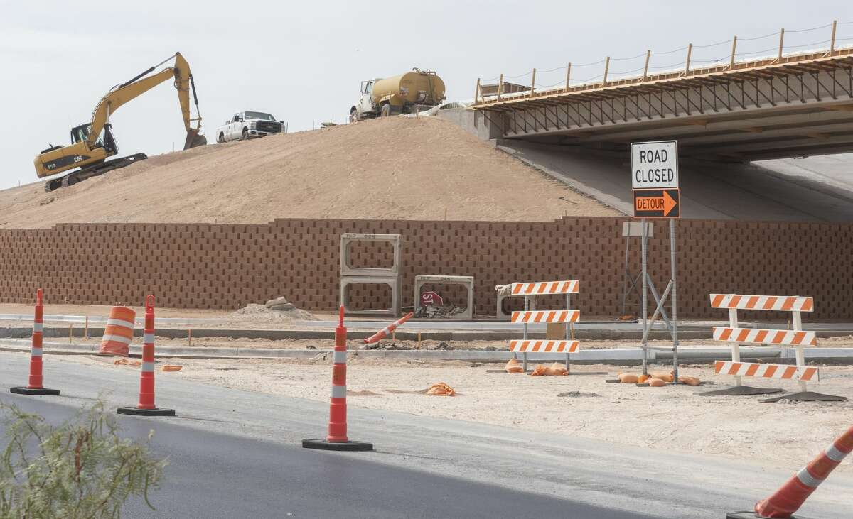 Construction continues 07/20/2020 on the expansion of Loop 250 with the E CR 60 intersection still closed as the overpass is built. Tim Fischer/Reporter-Telegram