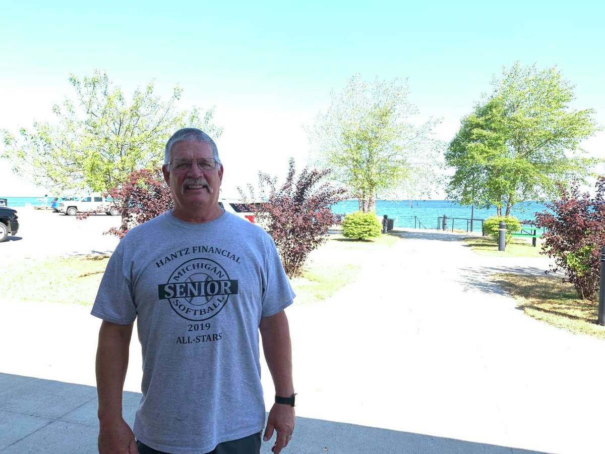 Dave Dybowski, a Huron County resident of 18 years, has been cleaning the stretch of road between Port Austin and Grindstone for five years. (Paige Withey/Huron Daily Tribune)