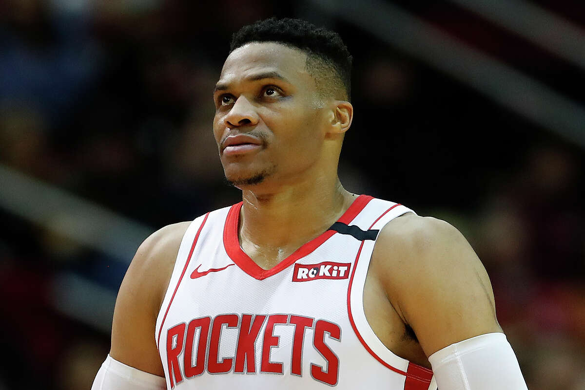 Rockets guard Russell Westbrook announced July 13 that he had tested positive for COVID-19, delaying his arrival in Orlando.