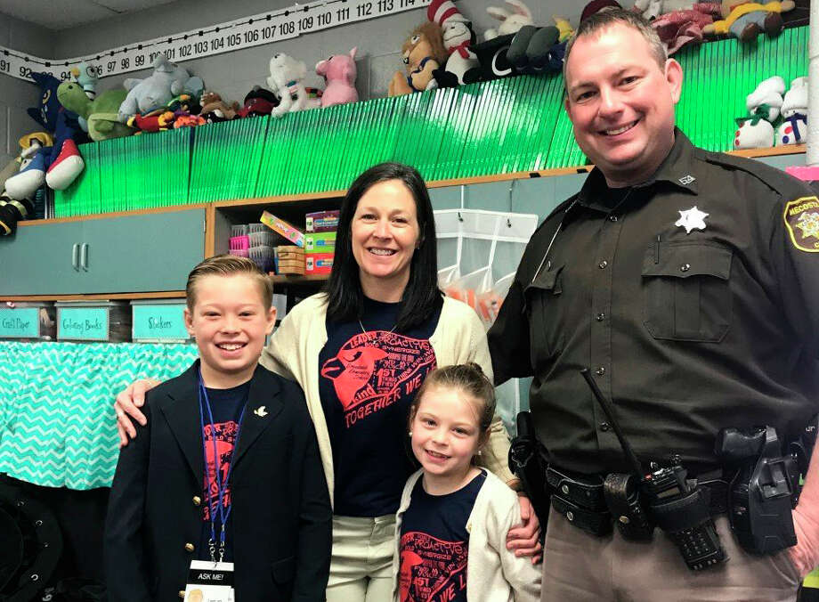 Mecosta County School Resource Officer Jason Losinski said he enjoys having the opportunity to work with children while helping others. Photo: Courtesy Photo