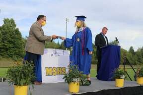 The Morley Stanwood Class of 2020 graduated Sunday. During the ceremony, students filled the high school football field, while parents spread six feet apart cheered them on from the sidelines. Social distancing and mask wearing were enforced.