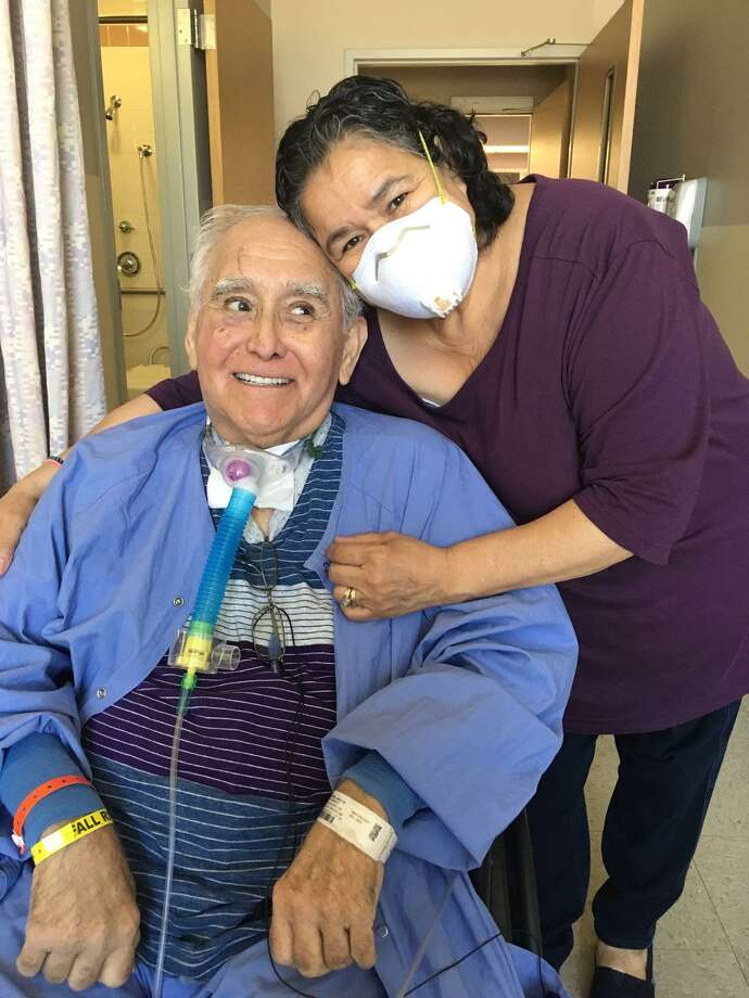 Juan Rivera is reunited with his wife Irma Rivera after three months in the hospital battling COVID-19. Photo: Courtesy Photo