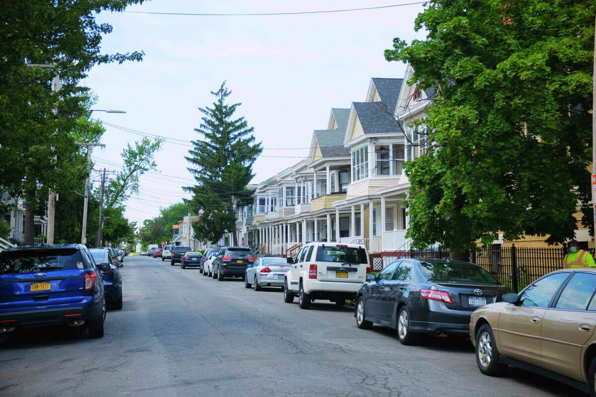 A view looking down Hudson Ave. on Monday, July 20, 2020, in Albany, N.Y. A July 4th party on Hudson Ave. has been linked to at least 22 positive COVID-19 cases in Albany County. (Paul Buckowski/Times Union)