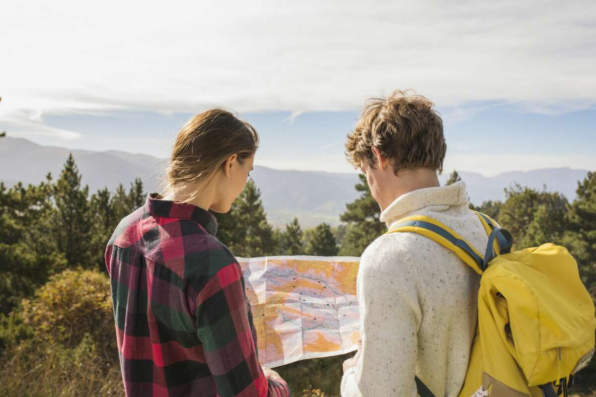Not just any map will do. Hikers should take a topographical map, which delineates the physical characteristics of the terrain you'll be traversing. Here's how to use a compass and topo map together.