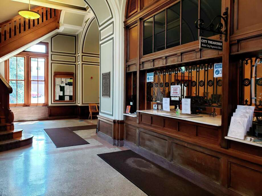While a number of COVID-19 prevention measures are in place at Manistee City Hall, the building will have new open hours to the public to allow staff more flexibility in schedules during the pandemic. (File photo)