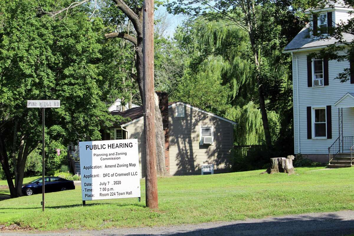 A Cromwell official and several dozen residents are objecting to a planning and zoning change which paves the way for billboards being erected on Route 9 at 6 Piney Ridge Road in Cromwell.