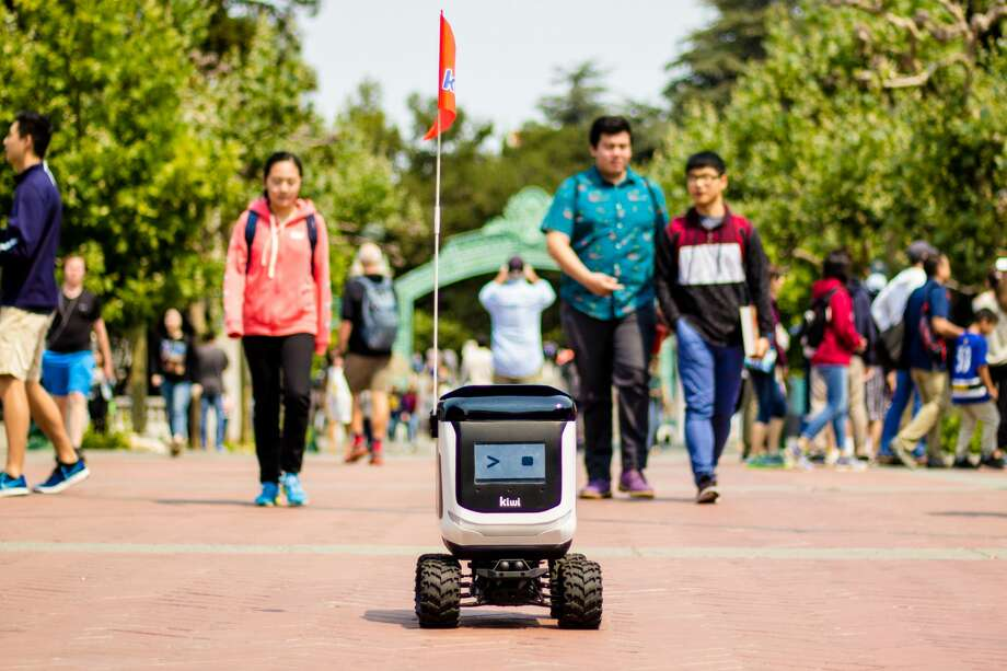 Kiwibot, a food delivery robot company based in Berkeley, launches in San Jose on July 21. Photo: Courtesy Of Kiwibot