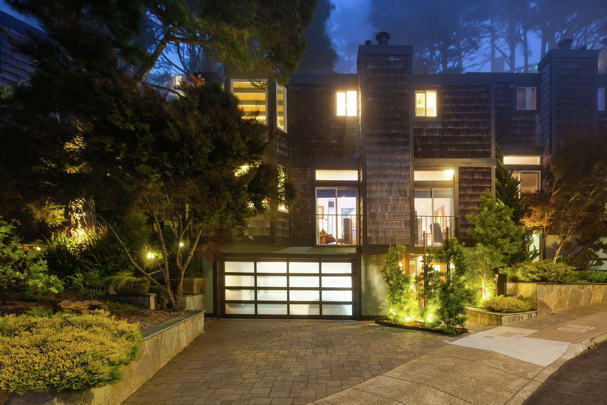 The townhome is 1,875 square feet with two-car garage parking.