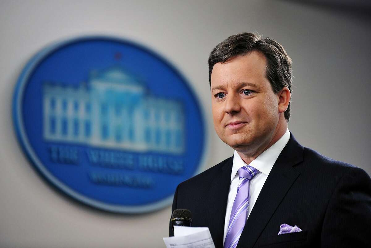 Former Fox News White House correspondent Ed Henry on Dec. 8, 2011 in the Brady Briefing Room of the White House in Washington, DC. (Mandel Ngan/AFP/Getty Images/TNS)