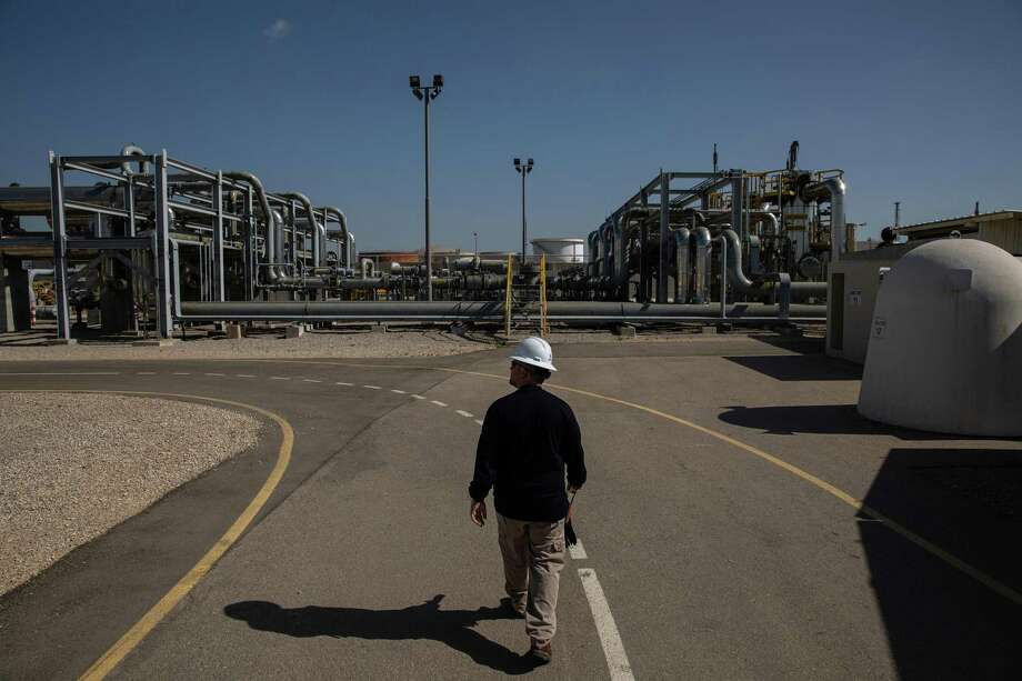 FILE -- A Noble Energy facility in Ashdod, Israel, June 27, 2019. In the first big deal since oil prices crashed four months ago, Chevron agreed on Monday, July 20, 2020, to buy Noble Energy for roughly $5 billion in what many experts consider the beginning of a sweeping consolidation in the U.S. oil industry. (Tamir Kalifa/The New York Times) Photo: TAMIR KALIFA, STR / NYT / NYTNS