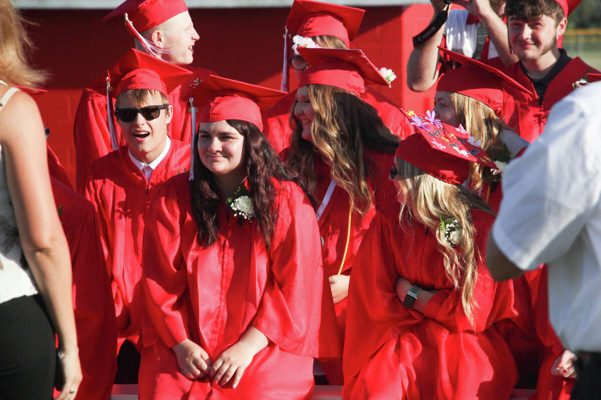 Caseville High School held its commencement ceremony for the class of 2020 on Monday night. The ceremony was held on the football field with designated seating areas to promote social distancing.