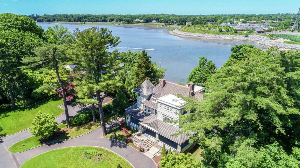 Halstead Realtor Joann Erb invites the public to tour 29 Glen Avon Drive, Riverside, for an open house event this Sunday, July 26, from 2 to 4 p.m. Masks are mandatory, and the broker will provide booties to wear while touring the interiors. This is a six-bedroom waterfront home on 0.71 acres that overlook Cos Cob Harbor. The 5,719-square-foot house was completely restored and renovated in 2008. Erb refers to the house as