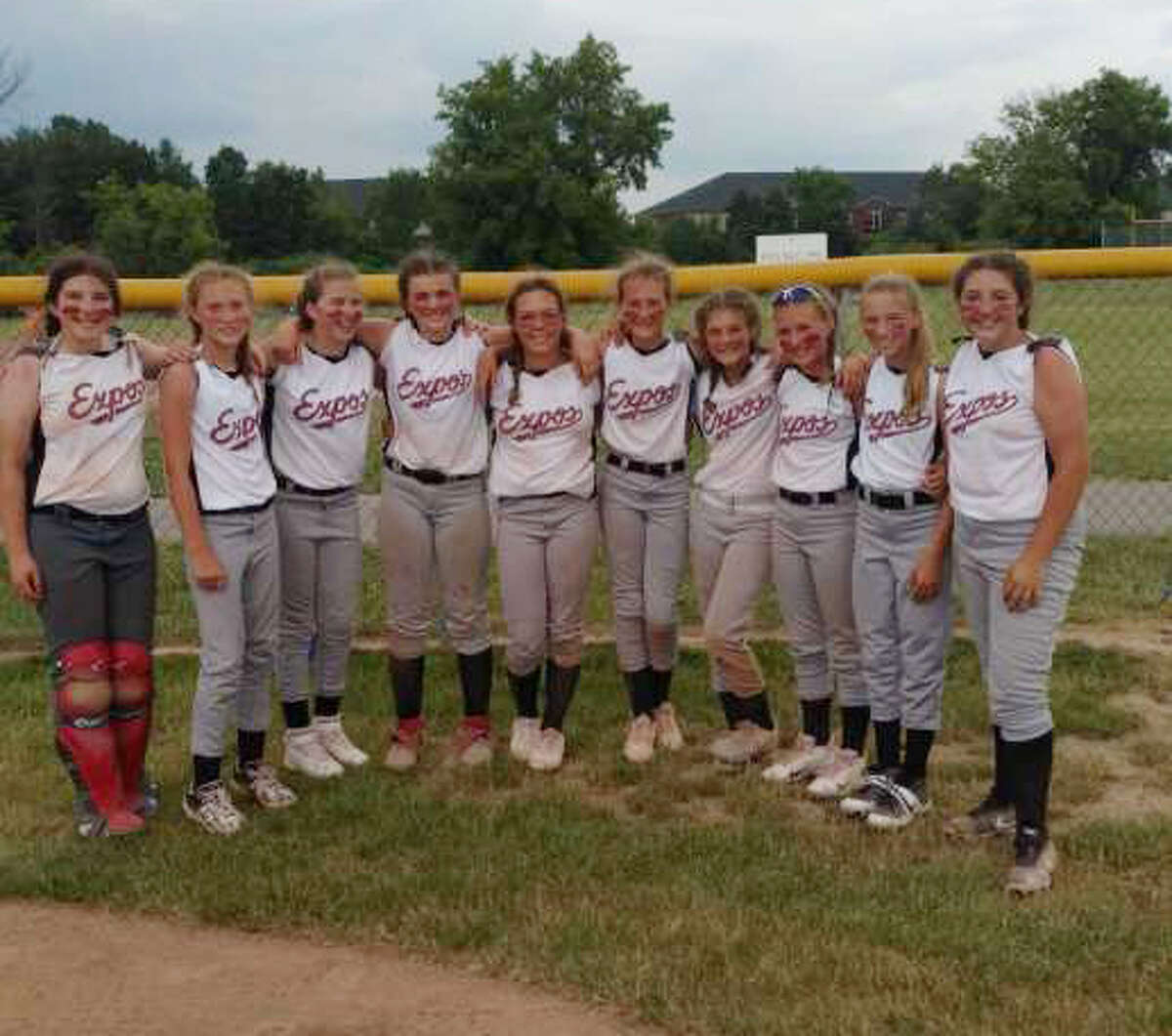 Local Michigan Expos players include: Addie Edwards, Paityn Enos, Kayla Winters, Kylynn Thompson, Calli Duncan, Kyrah Gray, Jilly Decker, Keira Elder, Elizabeth Anderson and Mattisen Tiedt. Not pictured are coaches Shaun Gray and Aaron Anderson and players Ella Wilson and Savannah Buzzelli.