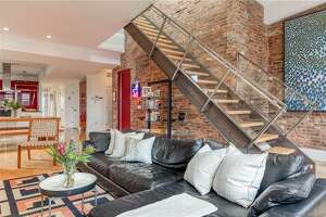 The penthouse apartment at 116 Crown St. in New Haven is on the market for $725,000.