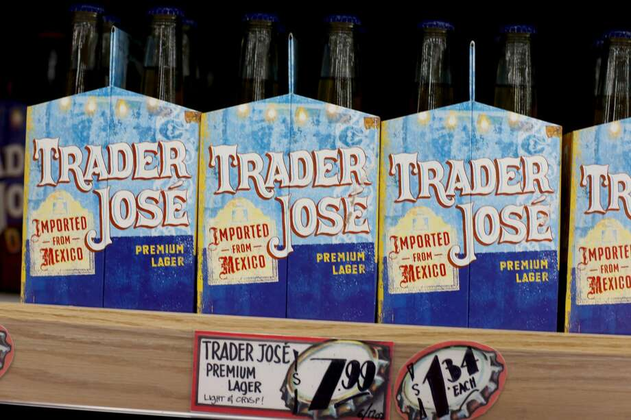 Trader Joe's beer is seen on the shelf during the grand opening of a Trader Joe's on October 18, 2013 in Pinecrest, Florida. Trader Joe's is working to remove names like Trader José from its products. Photo: Joe Raedle/Getty Images / 2013 Getty Images