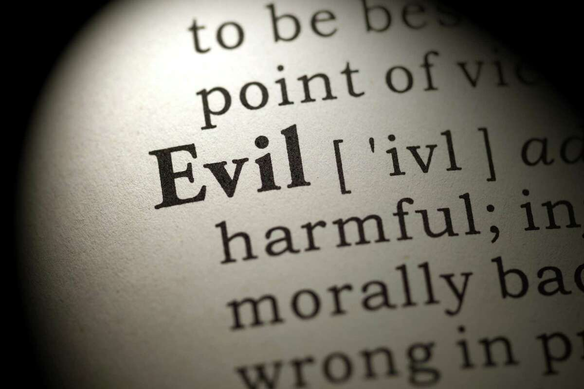 The word evil in the dictionary.