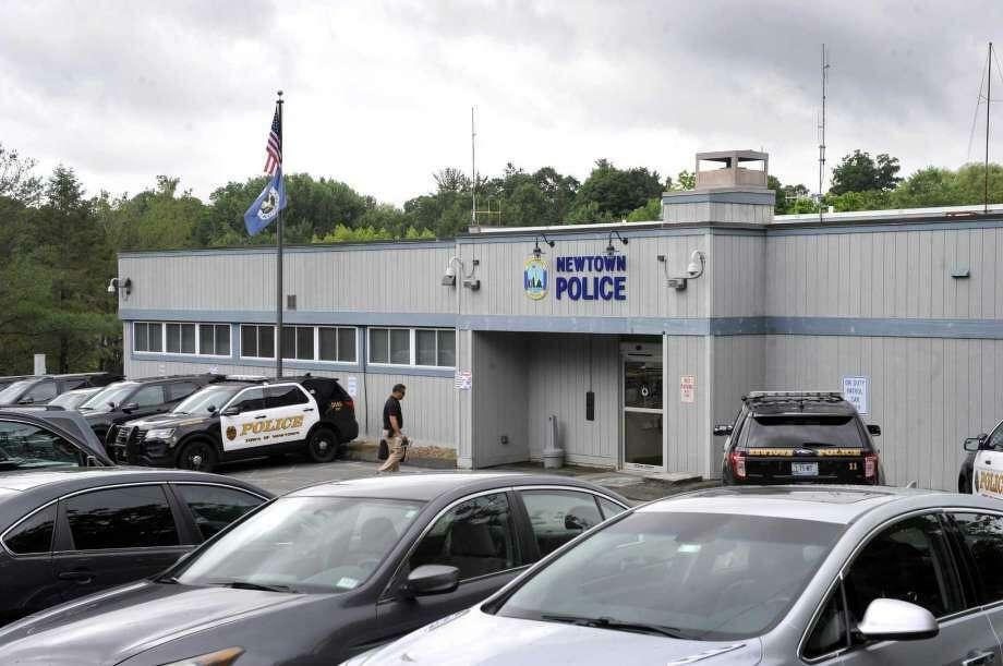 Police headquarters on Main Street in Newtown, Conn. Photo: Carol Kaliff