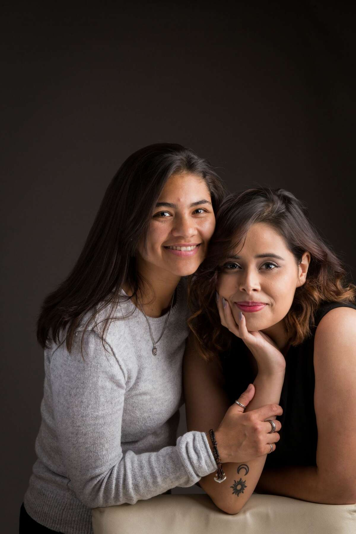 Alyssa Lopez, left, and Evelin Lopez got engaged in March 2018 on their one year anniversary. Alyssa proposed to Evelin next to Lake Travis by placing a ring on a Harry Potter wand and asking Evelin if she wanted to make an