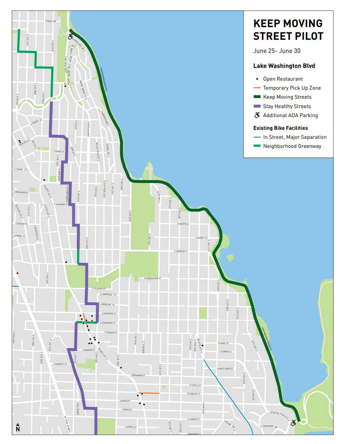 Over 600 people shared concern, joy, and ideas for traveling along Lake Washington Blvd during the June 5-day pilot opening Lake Washington Blvd to people walking, rolling, and biking.