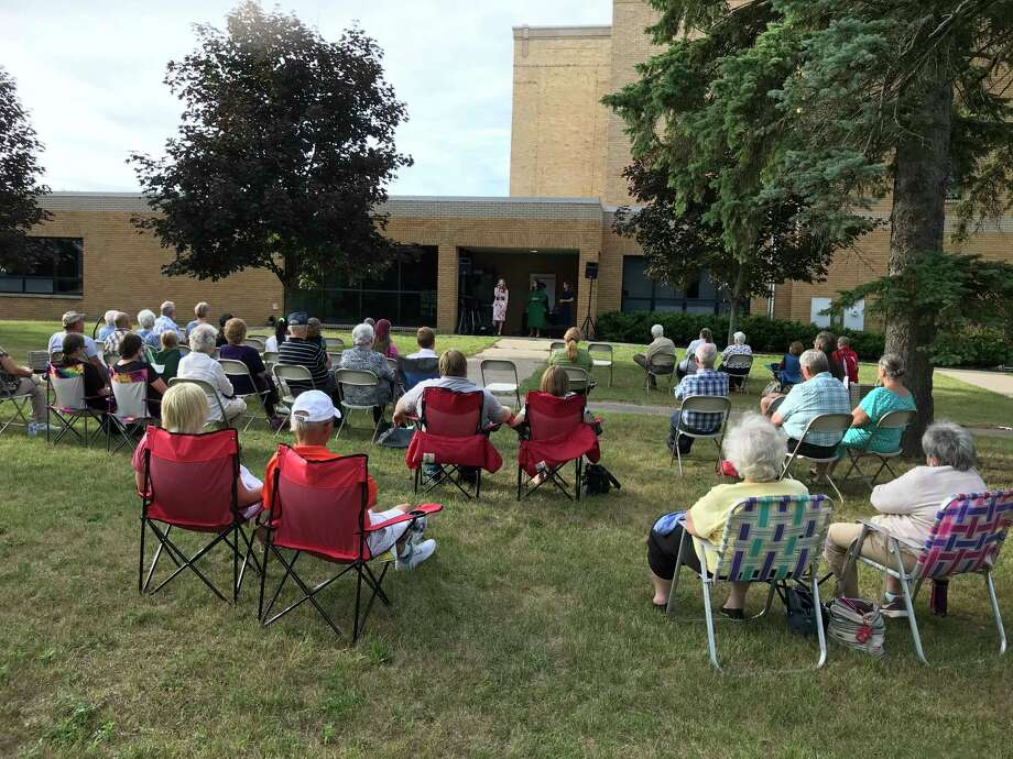 A crowd gathered Sunday for the first Morley Market Day, which was launched Saturday by the Morley Community Center. (Submitted photo)